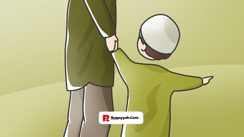 anak iktikaf di masjid